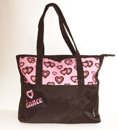 GLITTER HEART DANCE TOTE  ...ON LINE SALE