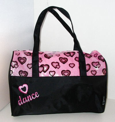 GLITTER HEART DANCE DUFFLE..................... ON LINE SALE