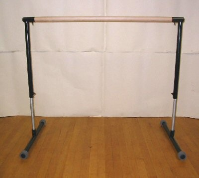 SALE...PORTABLE 4' MAPLE WOOD BALLET BARRE  MADE IN USA